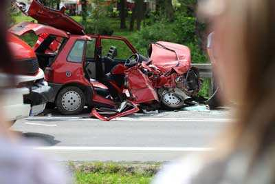A fatal car accident in Houston