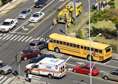 Bus accident in Houston