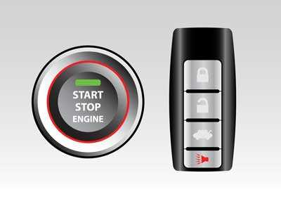 A keyless ignition key