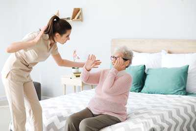 A nursing home abuse taking place