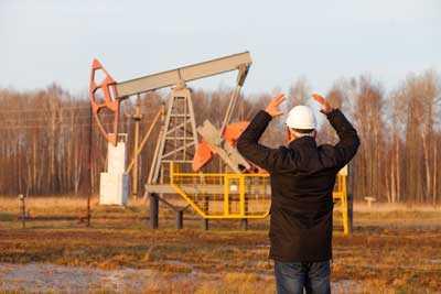 An oilfield worker